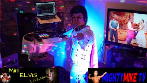 MINI ELVIS AKA MIGHTY MIKE MIDGET PARTY UP DJ RAVE ROCK DISCO PARTY DWARF FOR HIRE - DETROIT, MICHIGAN - WINDSOR, ONTARIO - TINY DISC JOCKY SERVICES FUNNY JOKES PARTY - SINGING LITTLE PERSON MINISTER TEXT-CALL-1-714-514-5514 OR MIGHTYMIKEMURGA@ME.COM